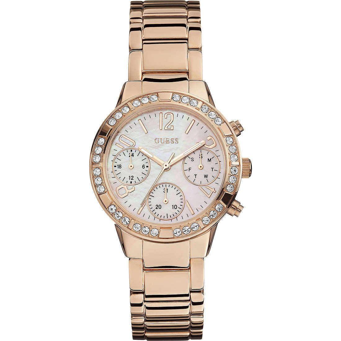 watch multifunction woman Guess Rose Gold W0546L3
