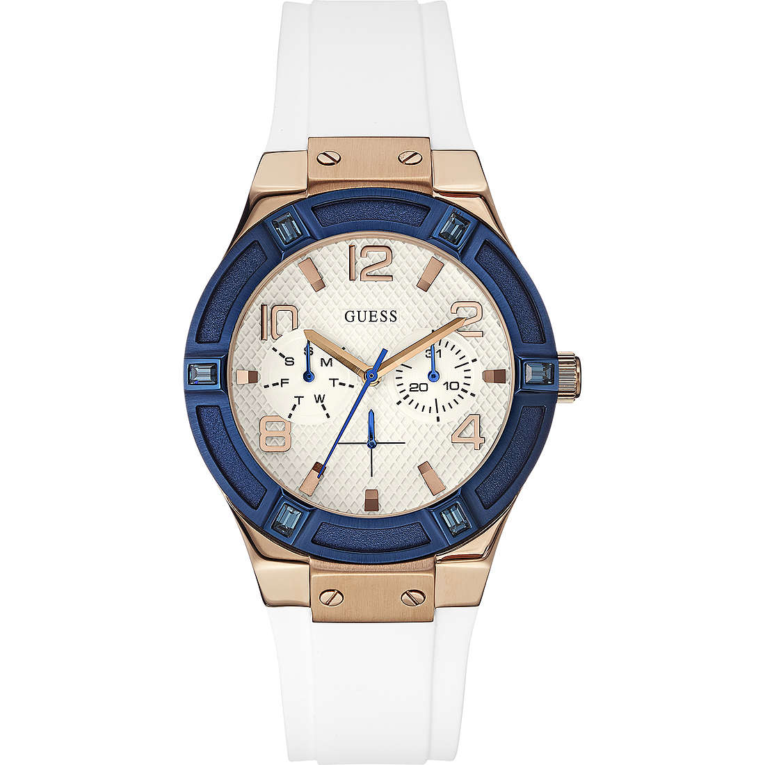 watch multifunction woman Guess Rose Gold W0564L1