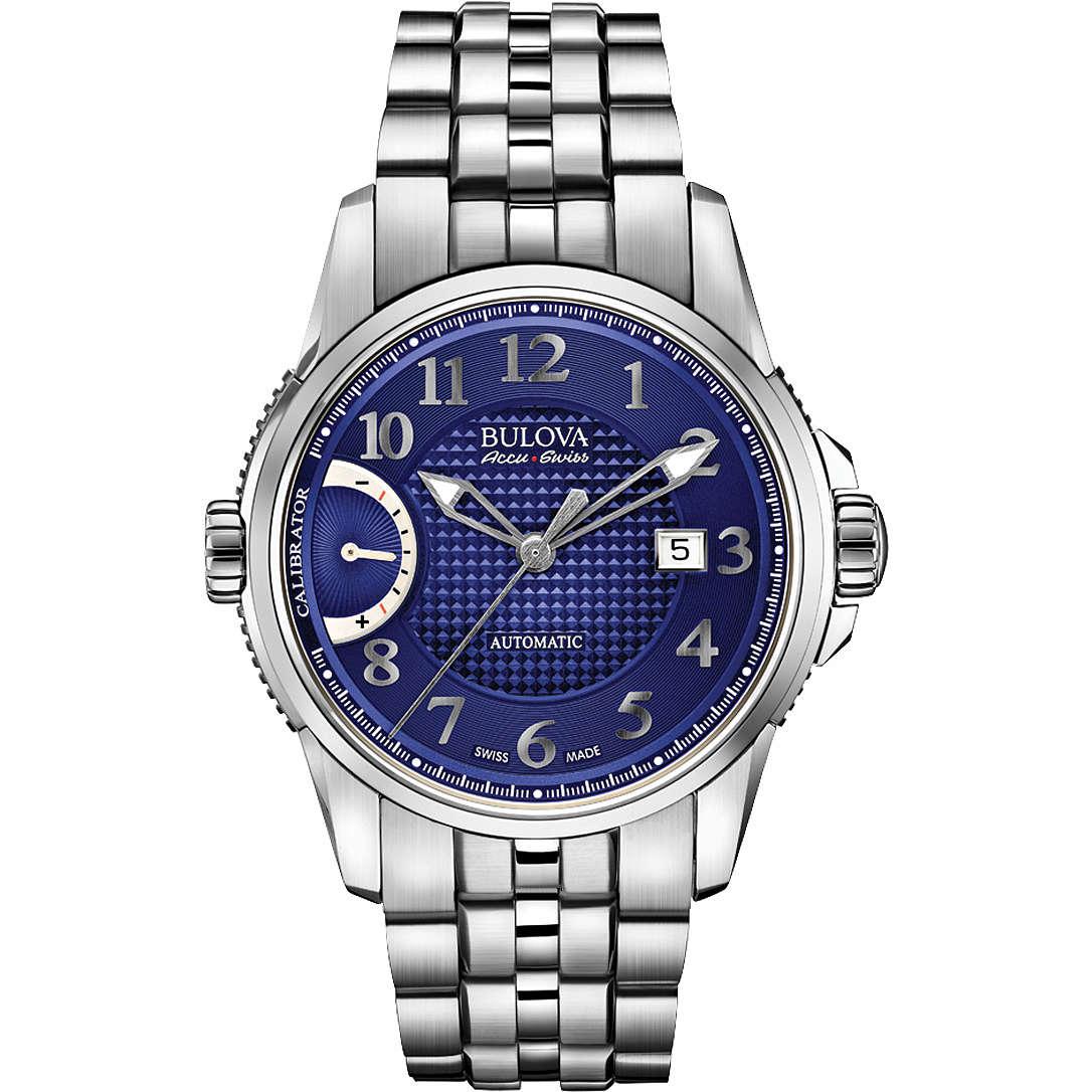 watch only time man Bulova Accu Swiss Efas Calibrator 63B175