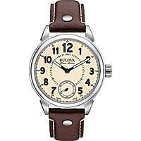 watch only time man Bulova Accu Swiss Gemini 63A121