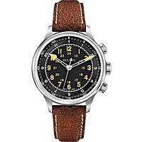 watch only time man Bulova Accu Swiss Military Vintage 63A119