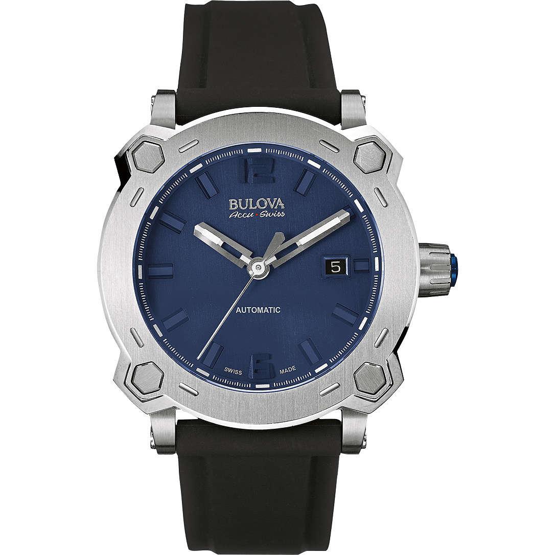 watch only time man Bulova Accu Swiss Percheron 63B190