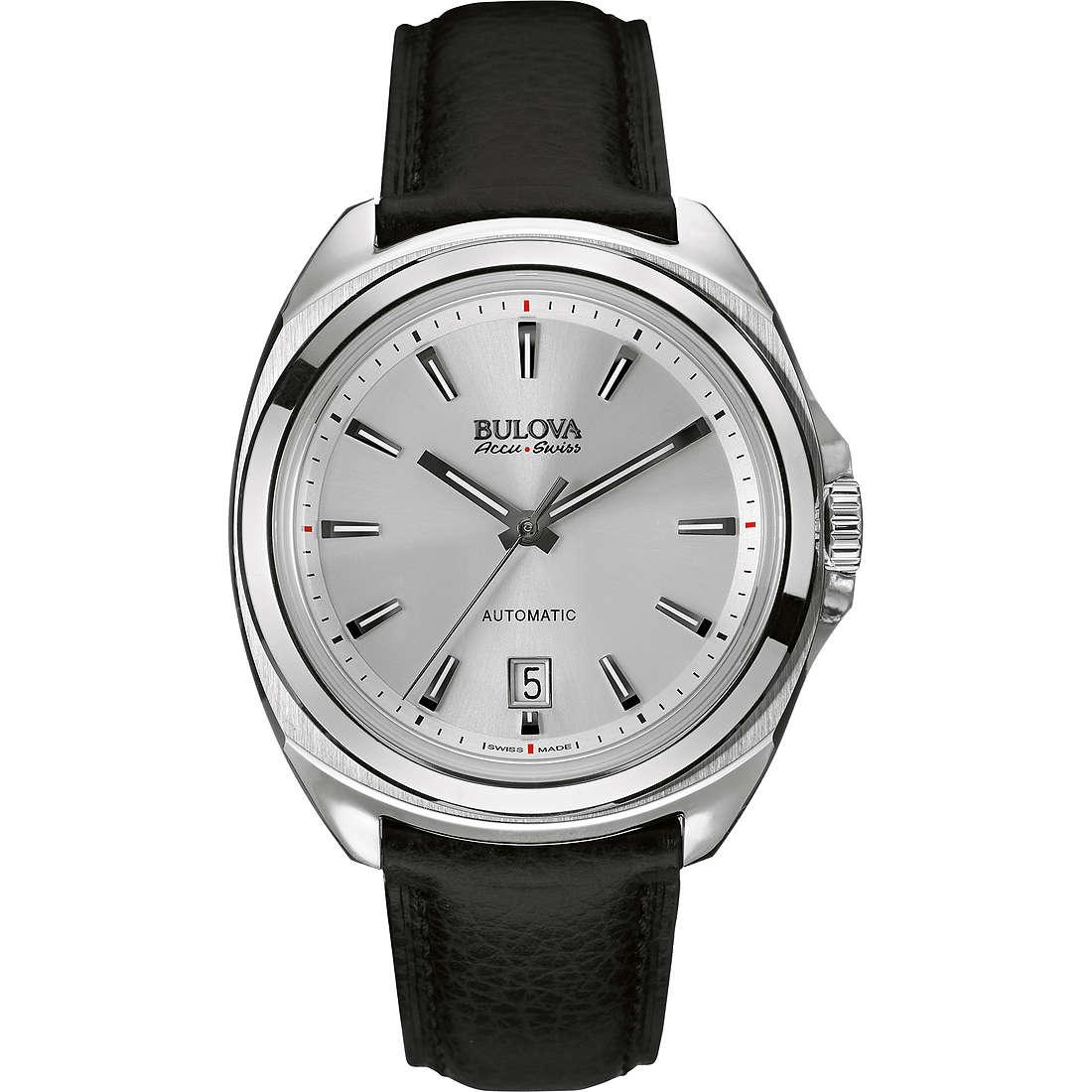 watch only time man Bulova Accu Swiss Telc 63B184