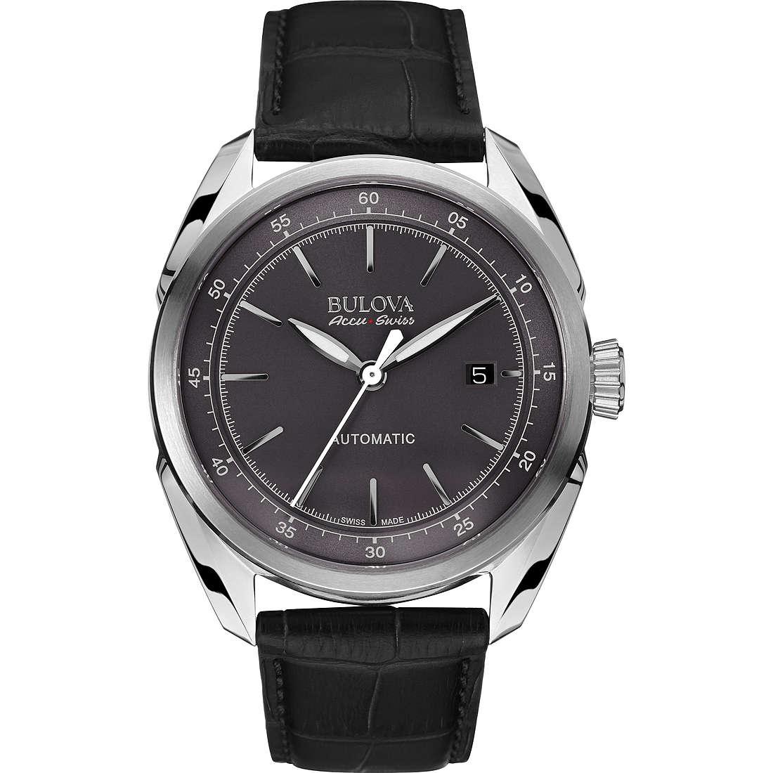 watch only time man Bulova Accu Swiss Tellaro 63B188