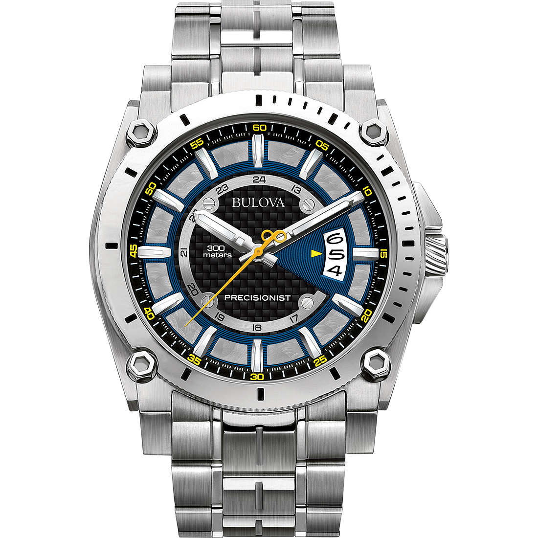 watch only time man Bulova Champlain 96B131