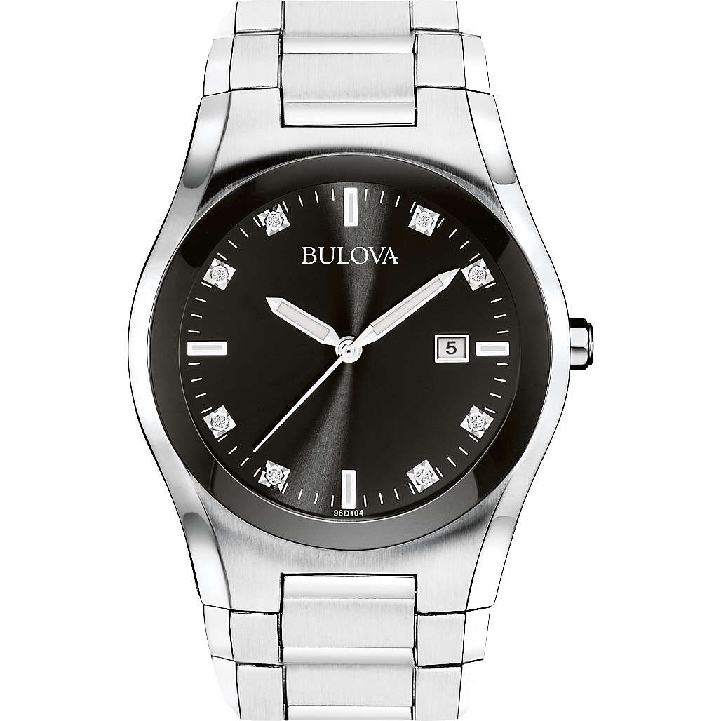 watch only time man Bulova Diamanti 96D104