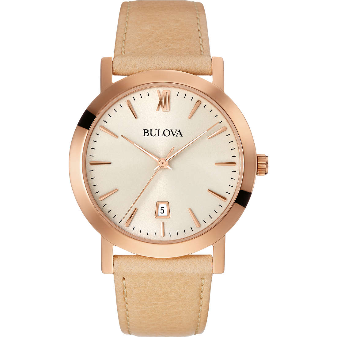 watch only time man Bulova Dress 97B144