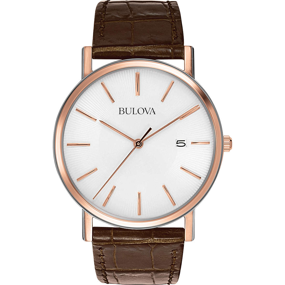 watch only time man Bulova Dress Duets 98H51