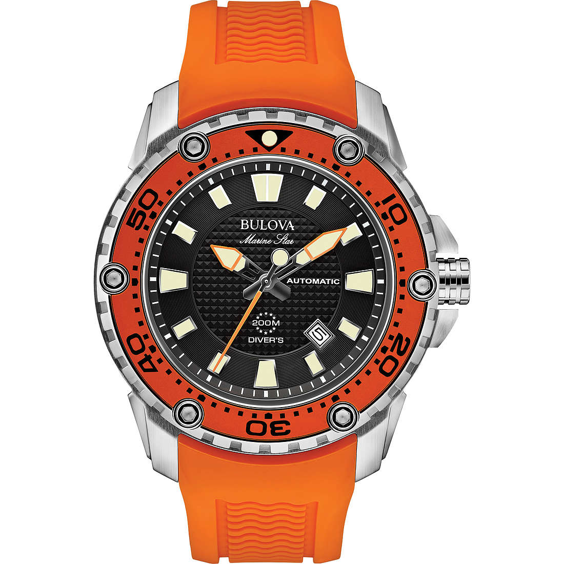 watch only time man Bulova Marine Star 98B207