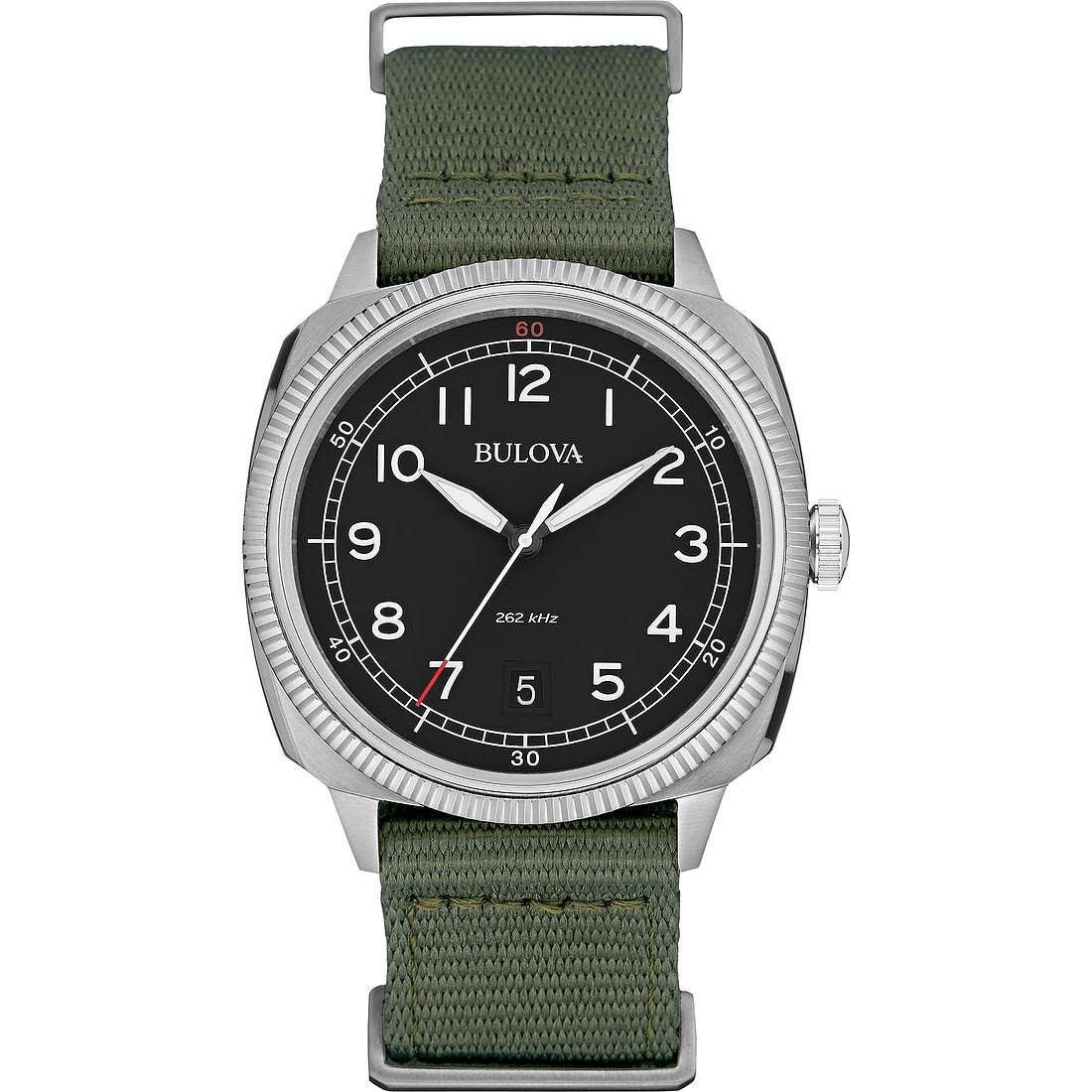 watch only time man Bulova Military Vintage 96B229
