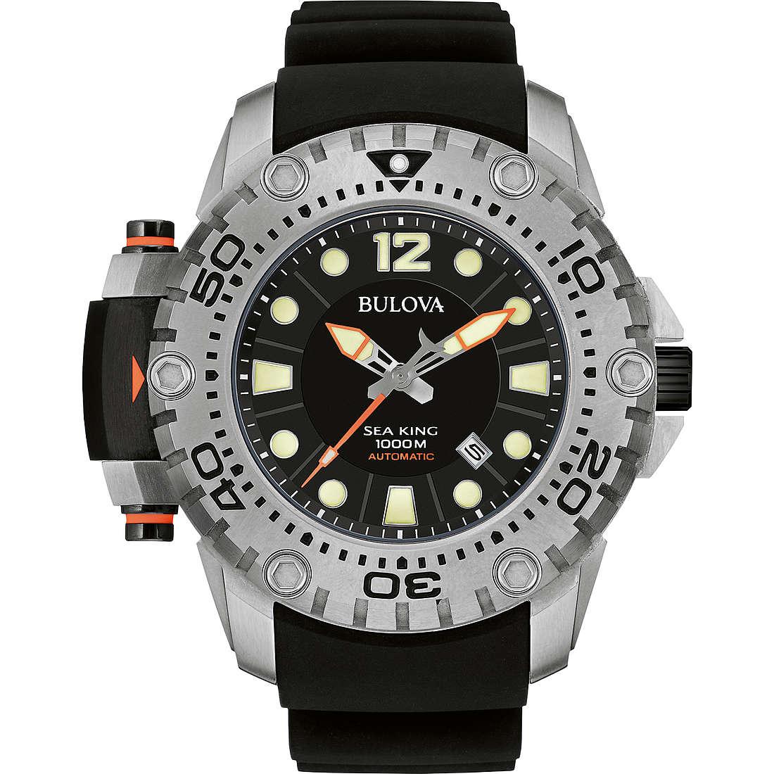 watch only time man Bulova Sea King 96B226