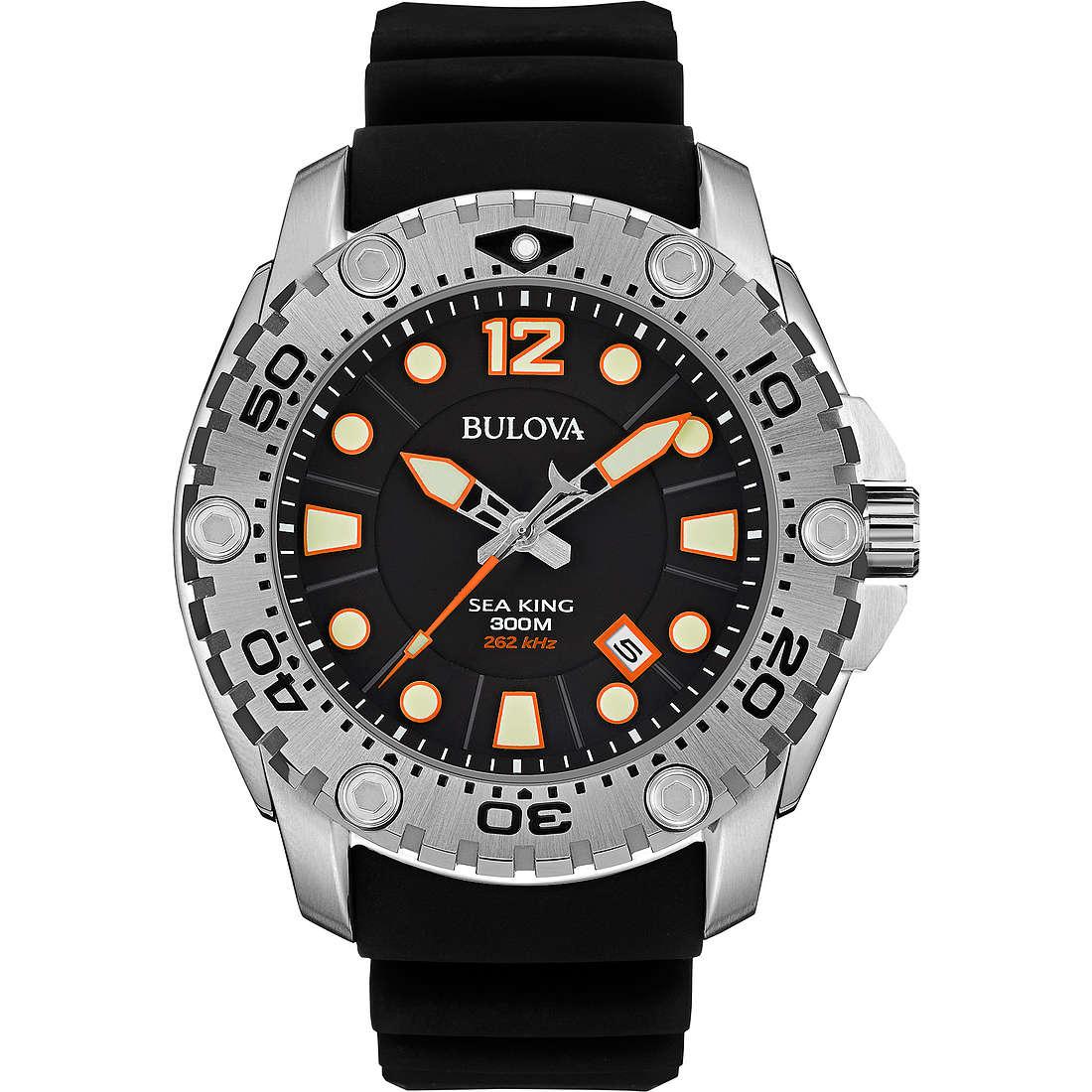 watch only time man Bulova Sea King 96B228