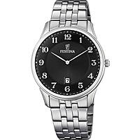 watch only time man Festina Acero Clasico F6856/4