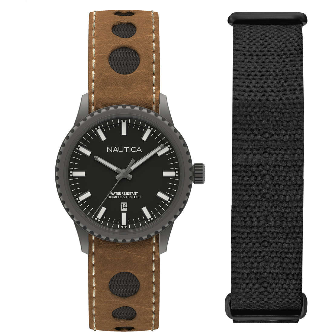 watch only time man Nautica Nms 02 Date NAD16000G