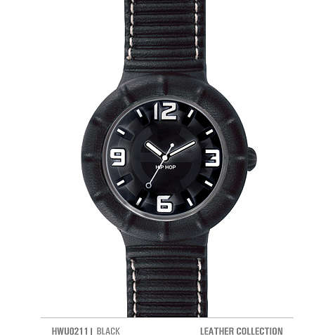 watch only time unisex Hip Hop Leather HWU0211