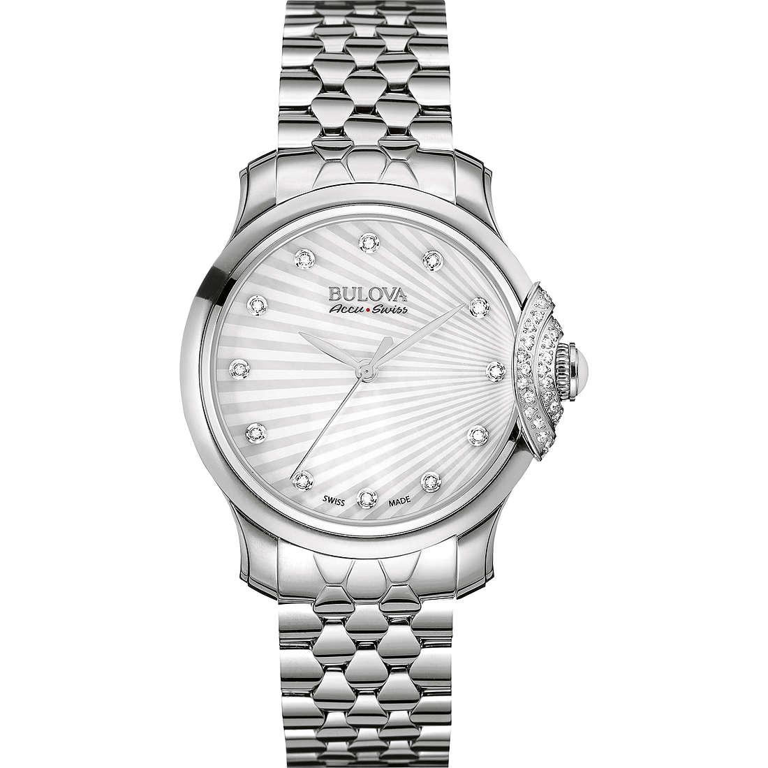 watch only time woman Bulova Accu Swiss Bellecombe 63R147
