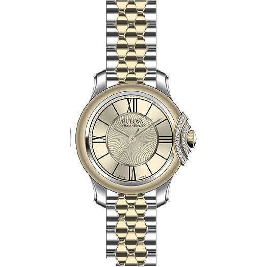 watch only time woman Bulova Accu Swiss Bellecombe 65R159