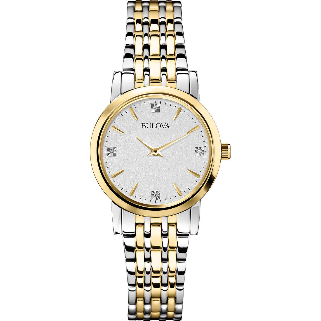 watch only time woman Bulova Diamanti Duets 98P115