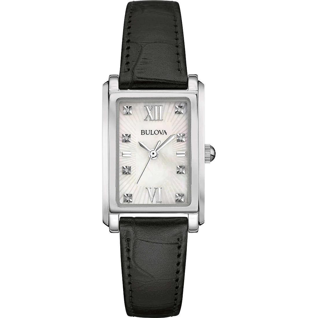 watch only time woman Bulova Diamond Gallery 96P156