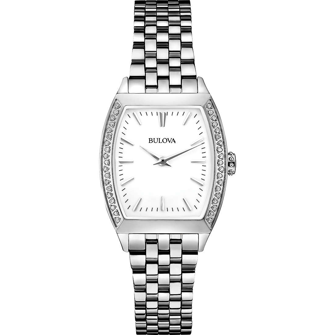 watch only time woman Bulova Diamond Gallery 96R196