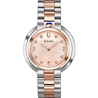 watch only time woman Bulova Diamonds Rubyat 98P174