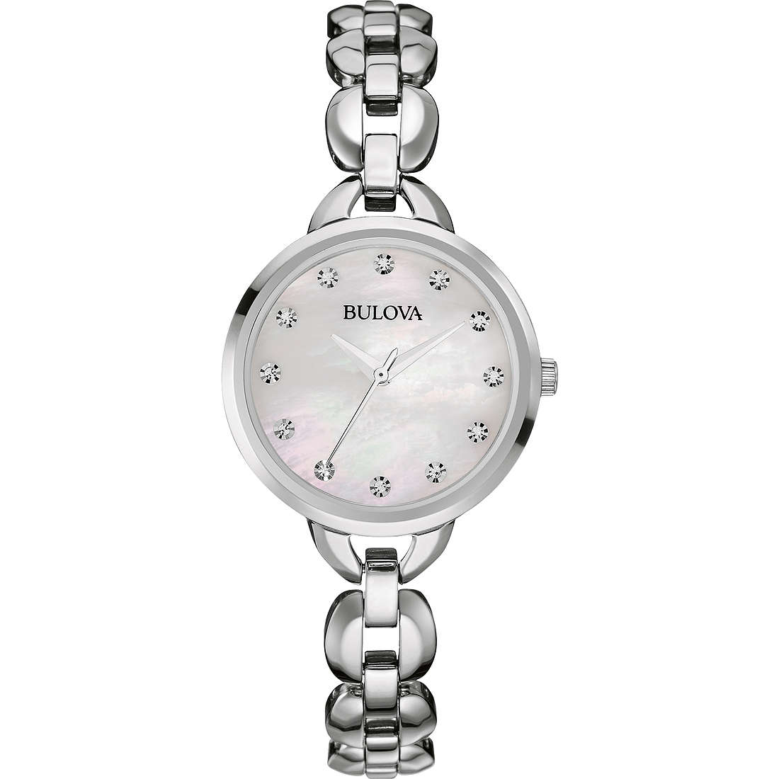 watch only time woman Bulova Ladies Crystal 96L204