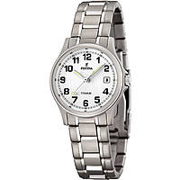 watch only time woman Festina Calendario Titanium F16459/1