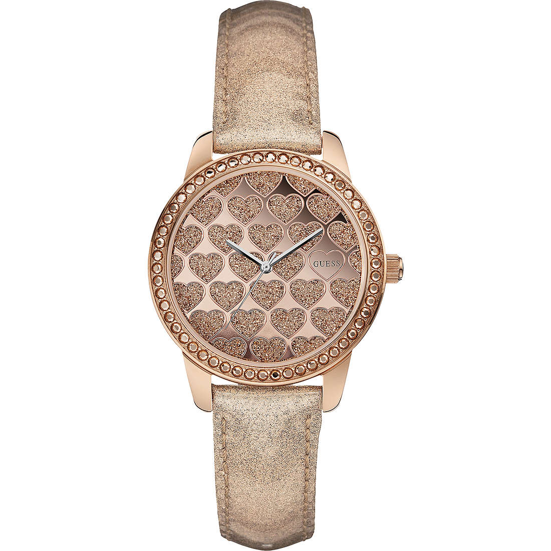 watch only time woman Guess Rose Gold W0549L1