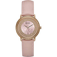 watch only time woman Guess Sparkling Pink W0032L7
