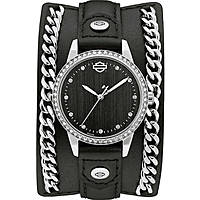 watch only time woman Harley Davidson Chain Cuff 76L184