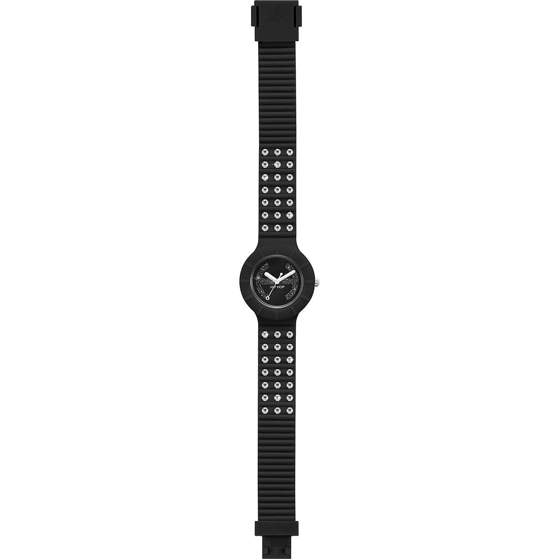 watch only time woman Hip Hop Black Tie HWU0484