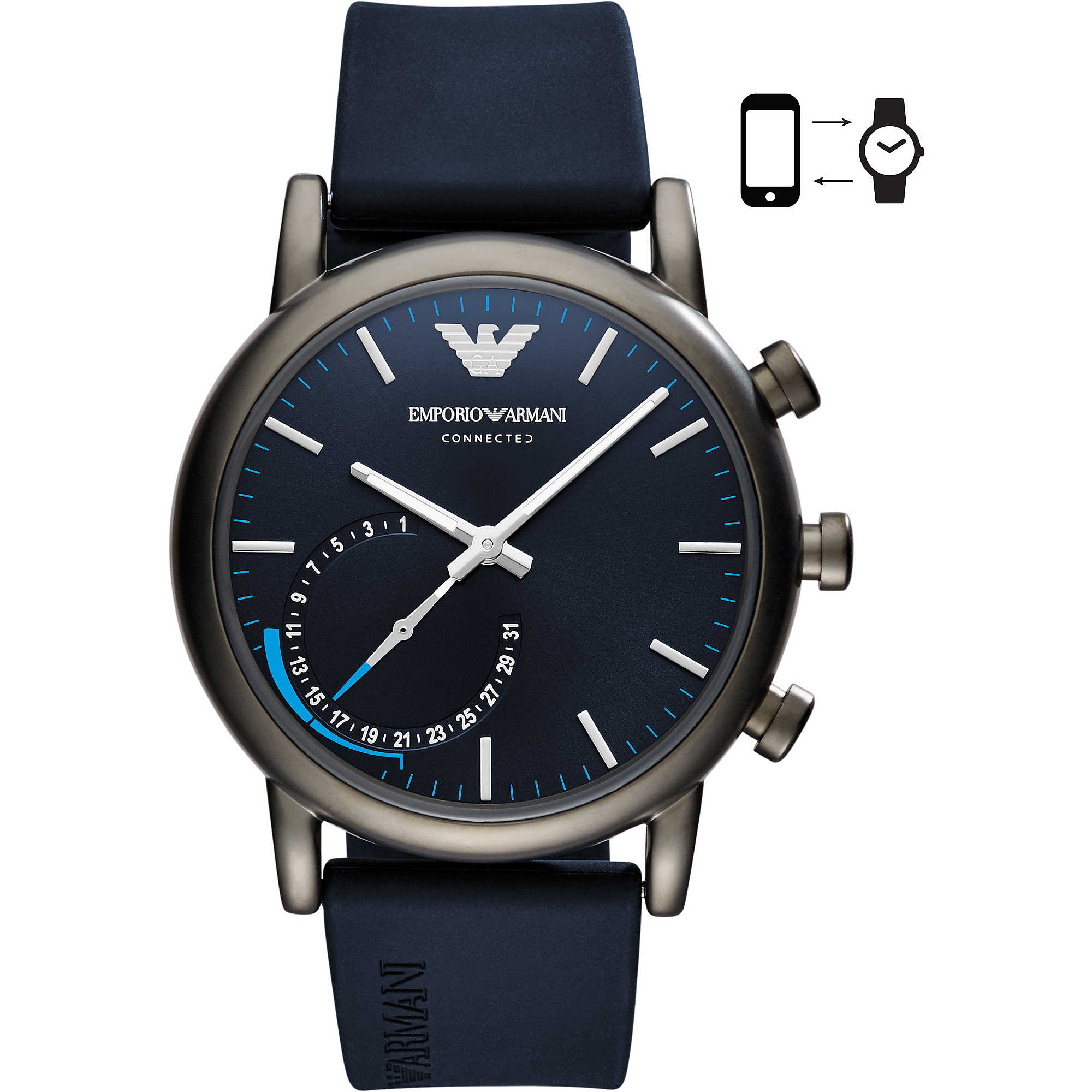 house mens emporio watches accessories smart hybrid pd i strap connected fraser of armani watch
