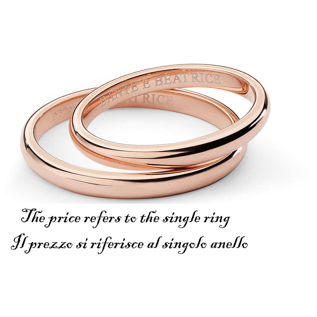 wedding ring unisex jewellery Comete Dante e Beatrice ANB 1381R M11