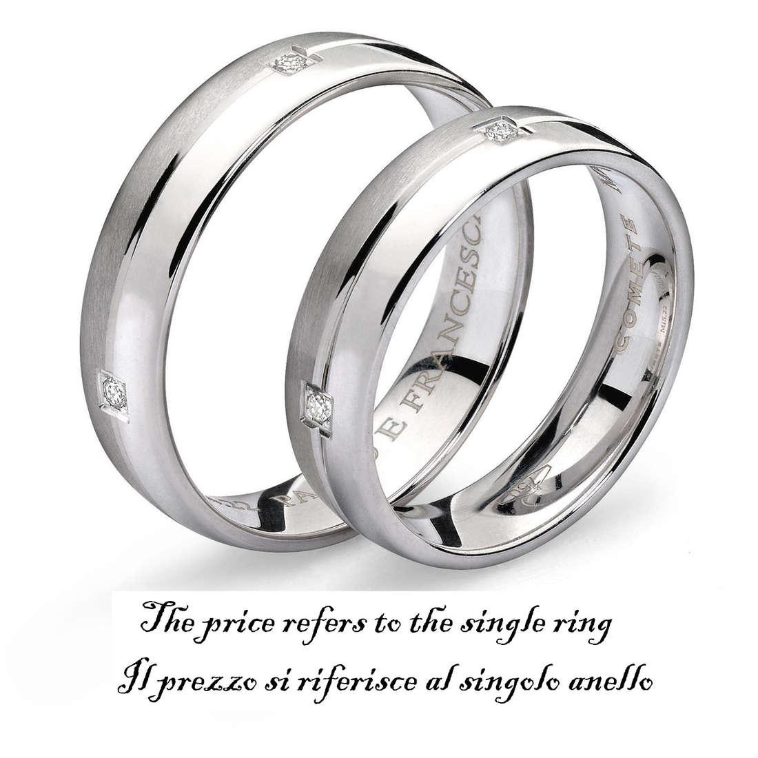 wedding ring unisex jewellery Comete Paolo e Francesca ANB 1113B M6