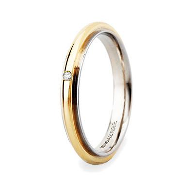 wedding ring unisex jewellery Unoaerre Brillanti Promesse 50 AFC 281/001 07 9