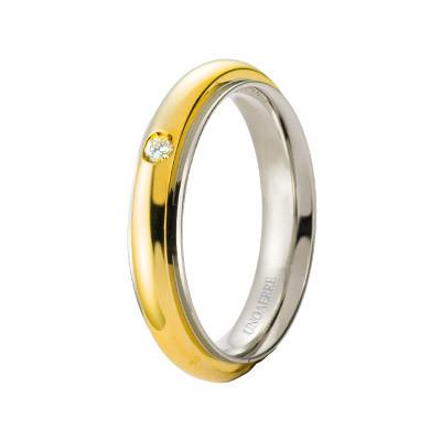 wedding ring unisex jewellery Unoaerre Brillanti Promesse 70 AFC 281/001 07 8