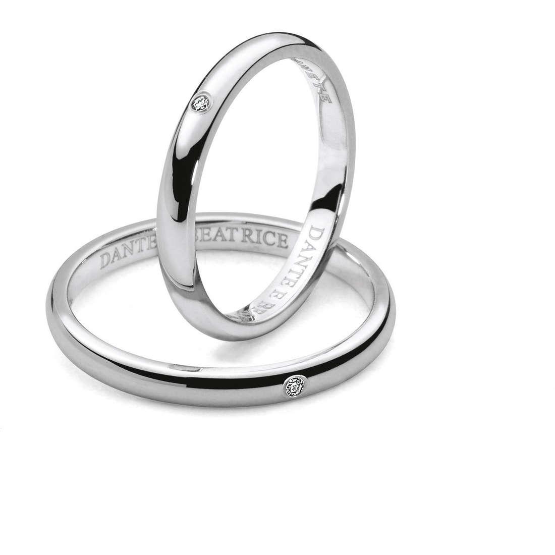 wedding ring woman jewellery Comete Dante e Beatrice ANB 1861B M7