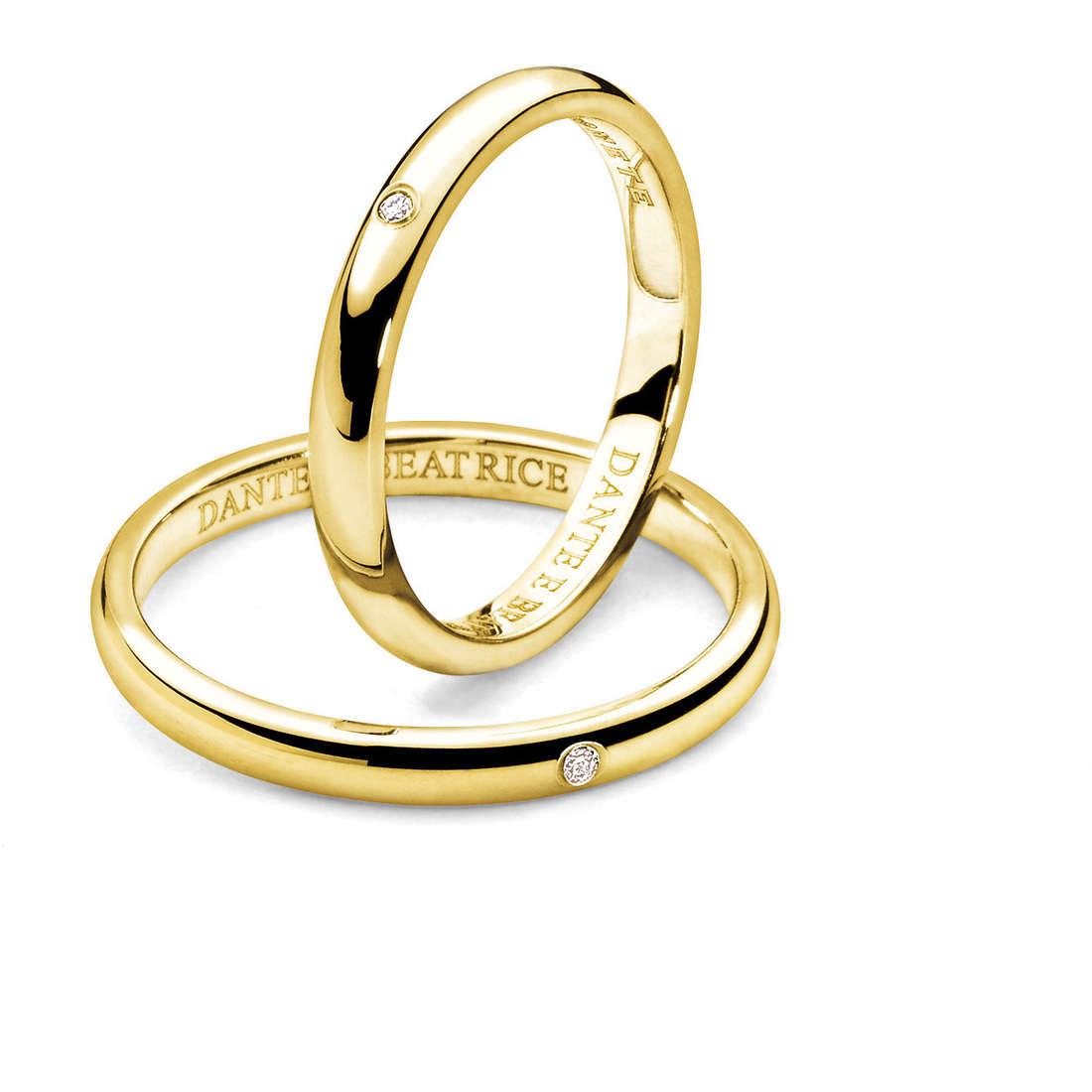 wedding ring woman jewellery Comete Dante e Beatrice ANB 1861G M20