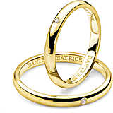 wedding ring woman jewellery Comete Dante e Beatrice ANB 1861G M20