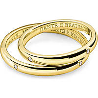 wedding ring woman jewellery Comete Dante e Beatrice ANB 1862G M20