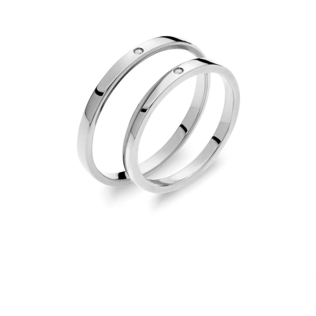 wedding ring woman jewellery Comete Otello e Desdemona ANB 1864B M20