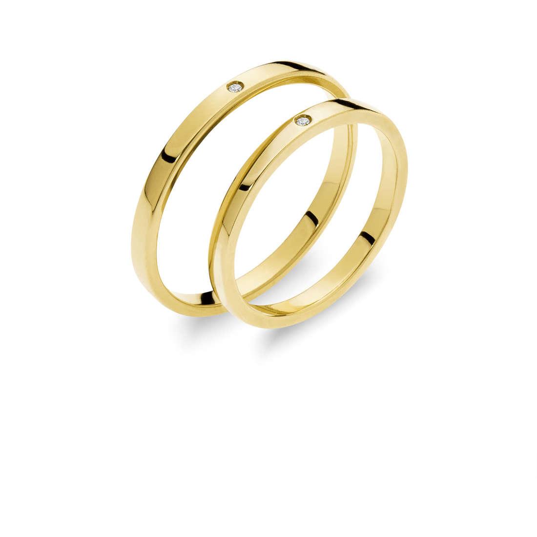 wedding ring woman jewellery Comete Otello e Desdemona ANB 1864G M7