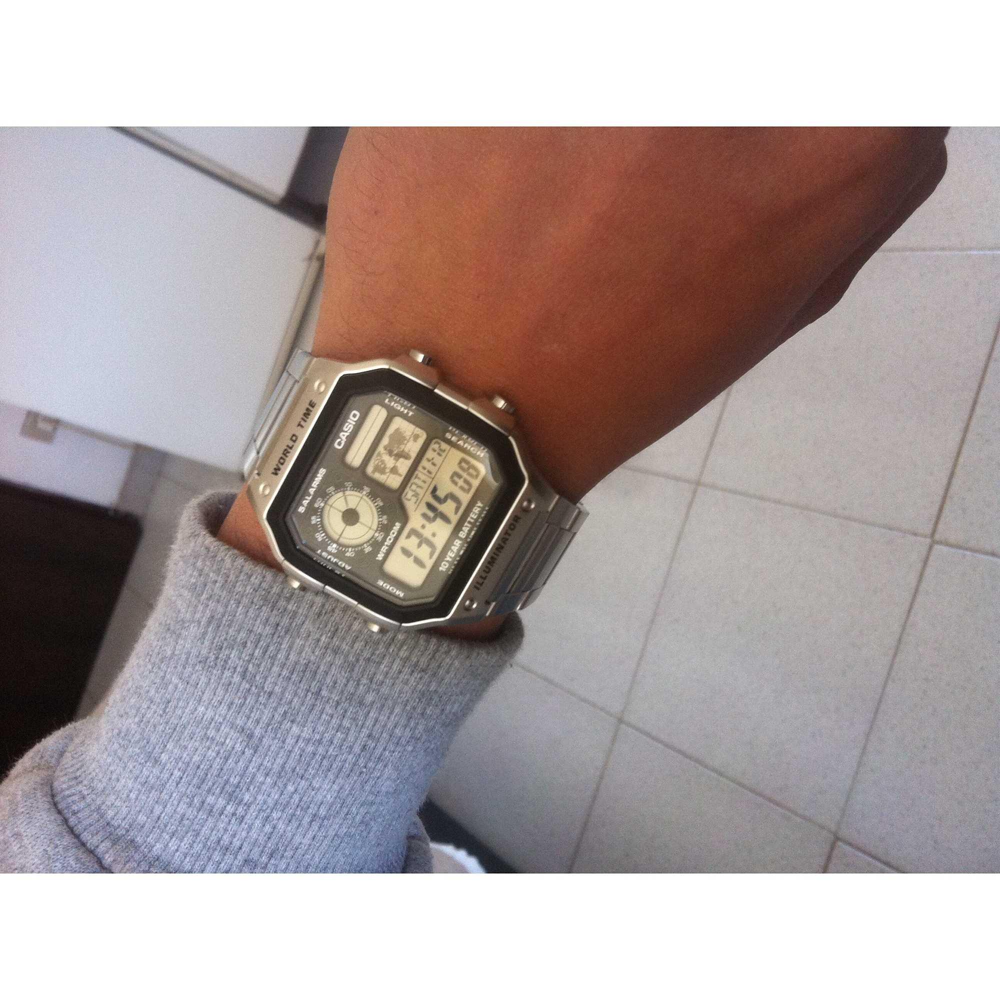 Watch Digital Man Casio Collection Ae 1200whd 1avef Digitals World Time 1a Original Prev