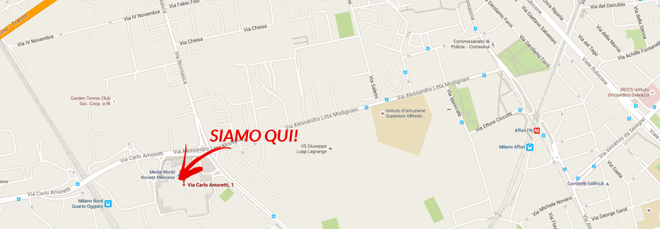 Mappa gioielleria GioiaPura Metropoli